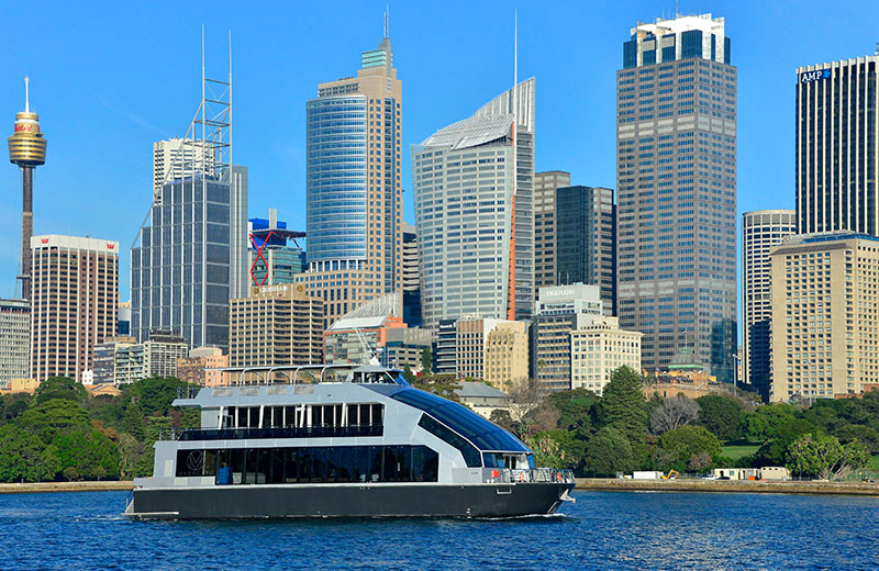 Sophisticated dining on a Glassboat lunch cruise in Sydney
