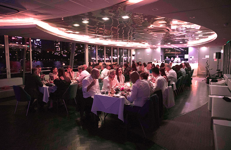 Glass Boat Dining in Sydney Harbour